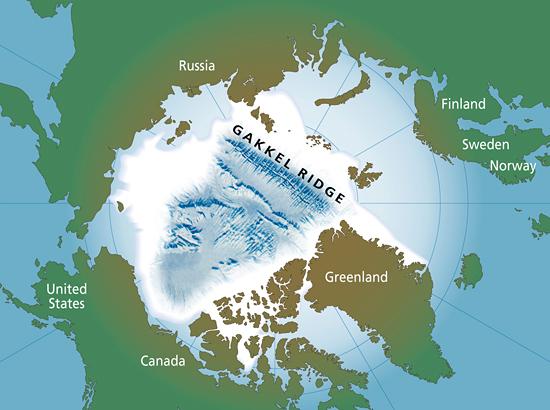 Location map of the Gakkel Ridge.
