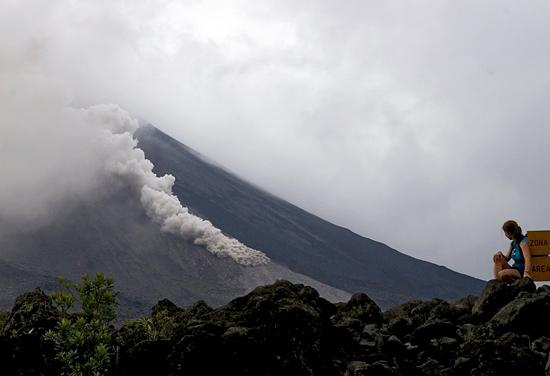 Evelyn Mervine at Arenal Volcano