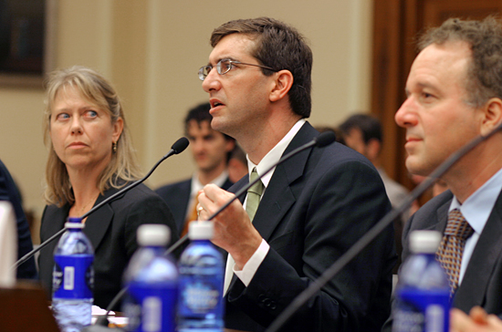 Scott Doney testifying before the US House of Representatives.
