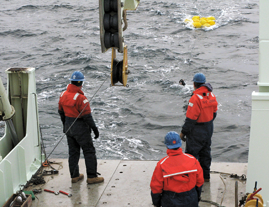 mooring recovery ops