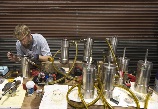 repair of rov jason's thruster motors