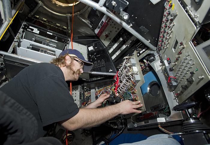 Removing Alvin's electronics
