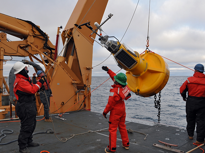 Recovering a Mooring in the Arctic