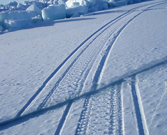 Sea ice cracks