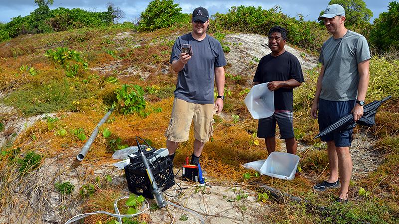 Marshall Islands groundwater testing