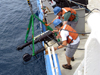 Video plankton recorder deployed