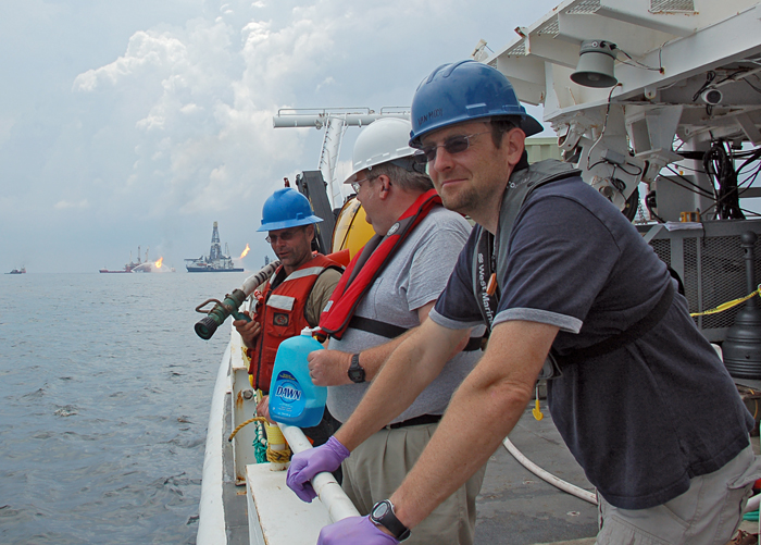 ben van mooy at Deepwater Horizon site