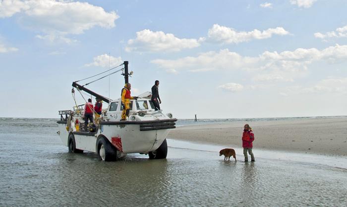 Amphibious vehicle in North Carolina