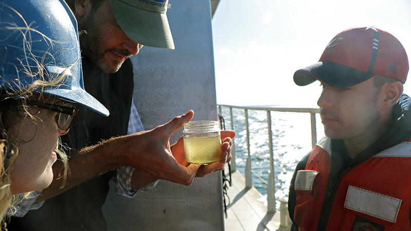 Plankton sampling on Tioga