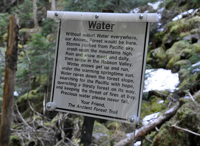 Sign on the Fraser River