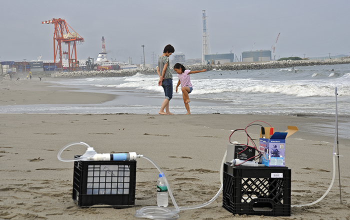 Groundwater sampling near Fukushima