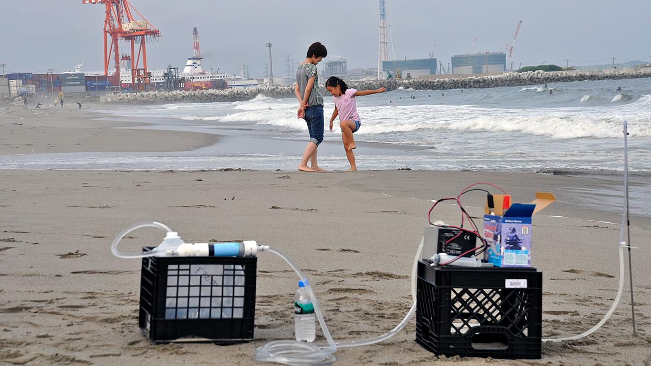 Japan beach sampling