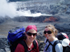 nicole keller and alison shaw at Poas volcano in Costa Rica