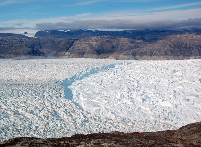 Glacier and fjord