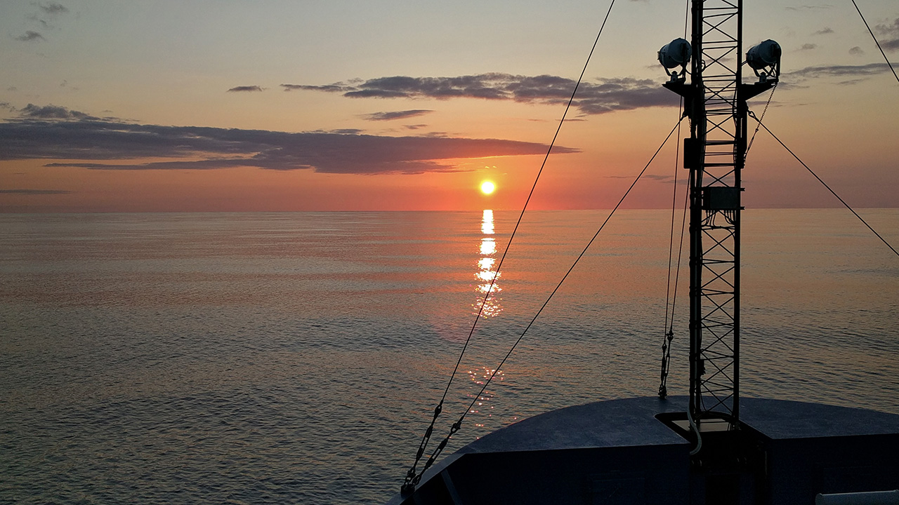 Sunset R/V Neil Armstrong