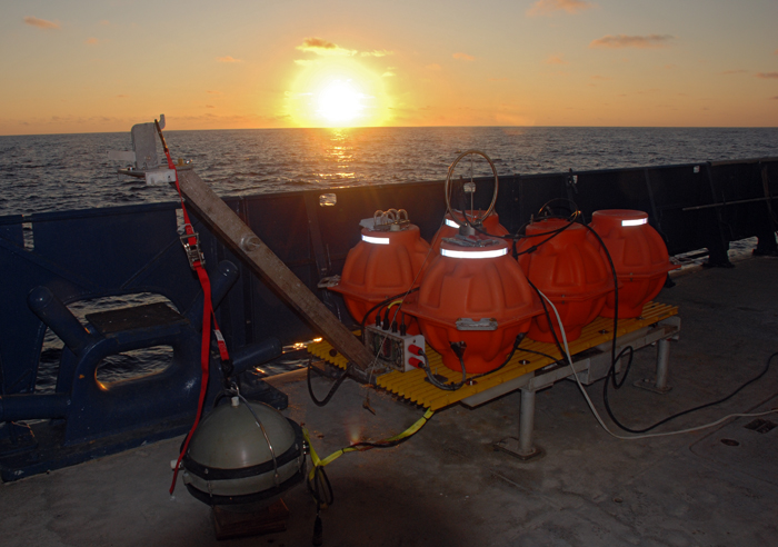 ocean-bottom seismometers