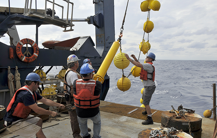 Brian Hogue and others recover current meter from Line W