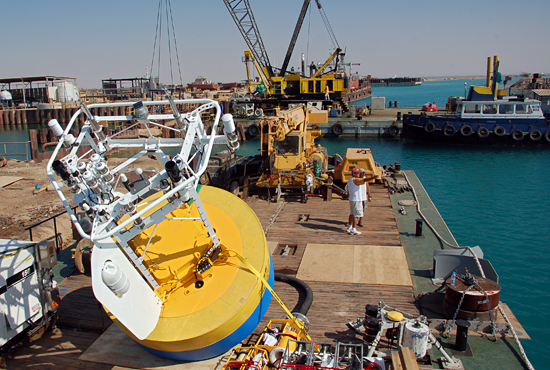 kaust buoy deployed off barge