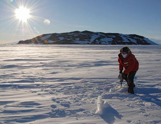 ice drilling in antarctica