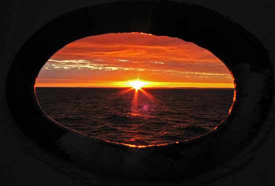 Sunrise during cruise OC440 up in the Bay of Fundy.