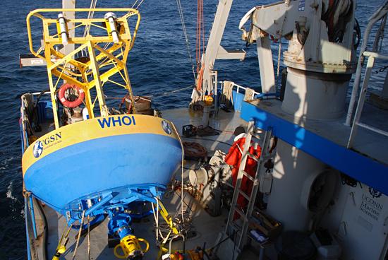 OOI buoy on r/v connecticut