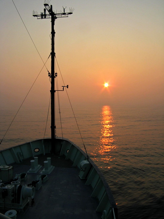r/v oceanus sunset