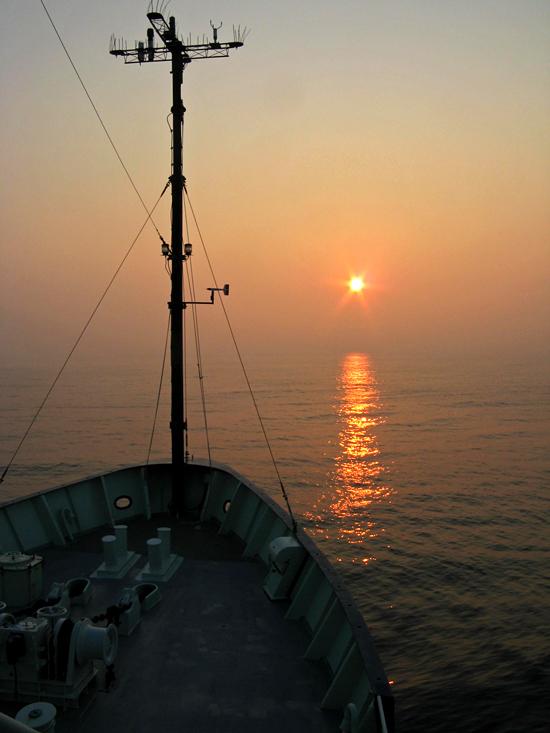 r/v oceanus sunset