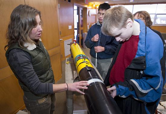 amy kukulya with perkins students