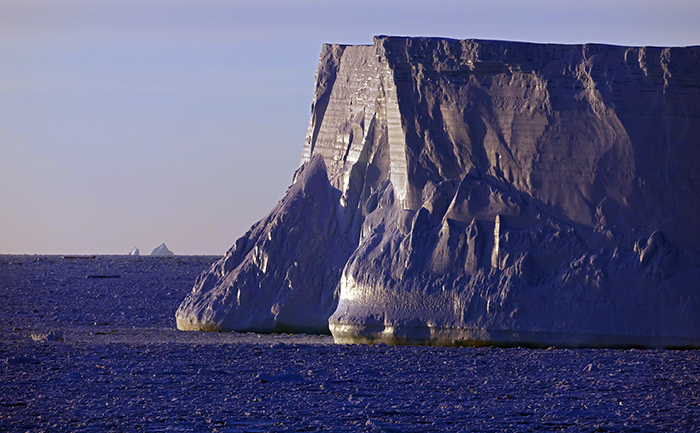 Ice berg at dawn
