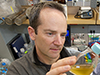 Tracy Mincer in the lab