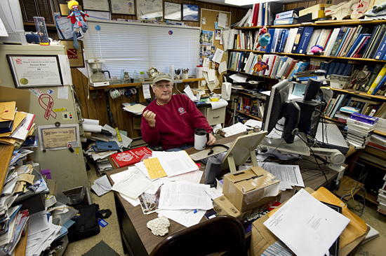 terry rioux in his office