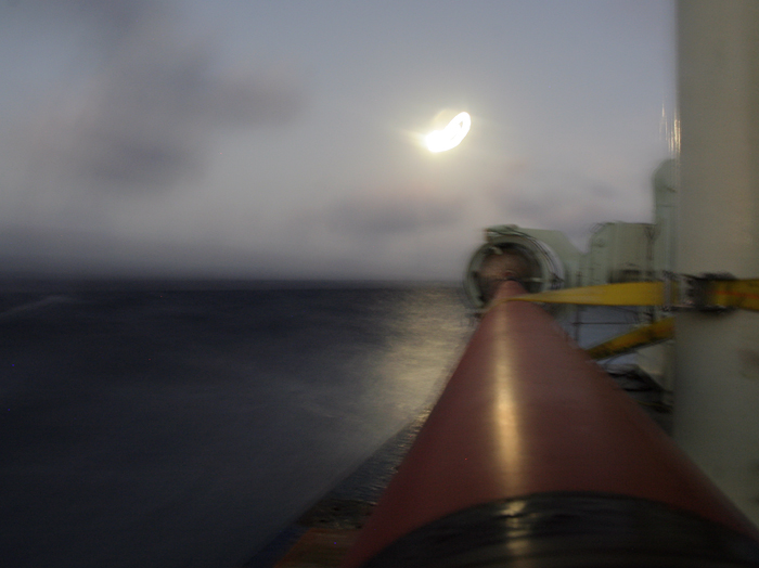 WHOI Long Core with full moon