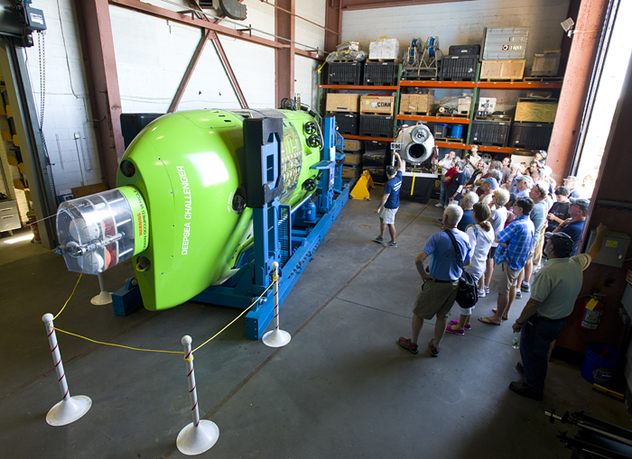 Deepsea Challenger on display