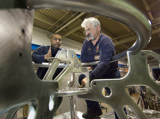 AOPE Engineer Chris Lumping and welder Tony Delane working on the Whale Multifunction node.