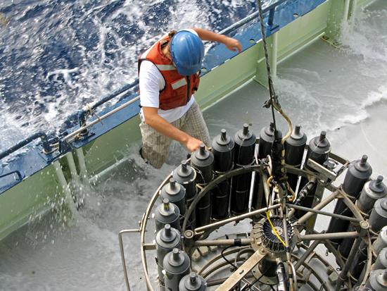 splashed worker on deck