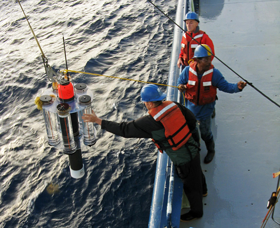 sediment trap deployment