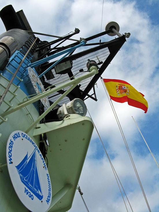 spanish flag flying on oceanus