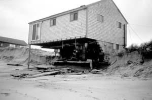house on eroding shore
