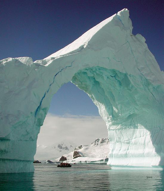 Iceberg arch, Antarctica