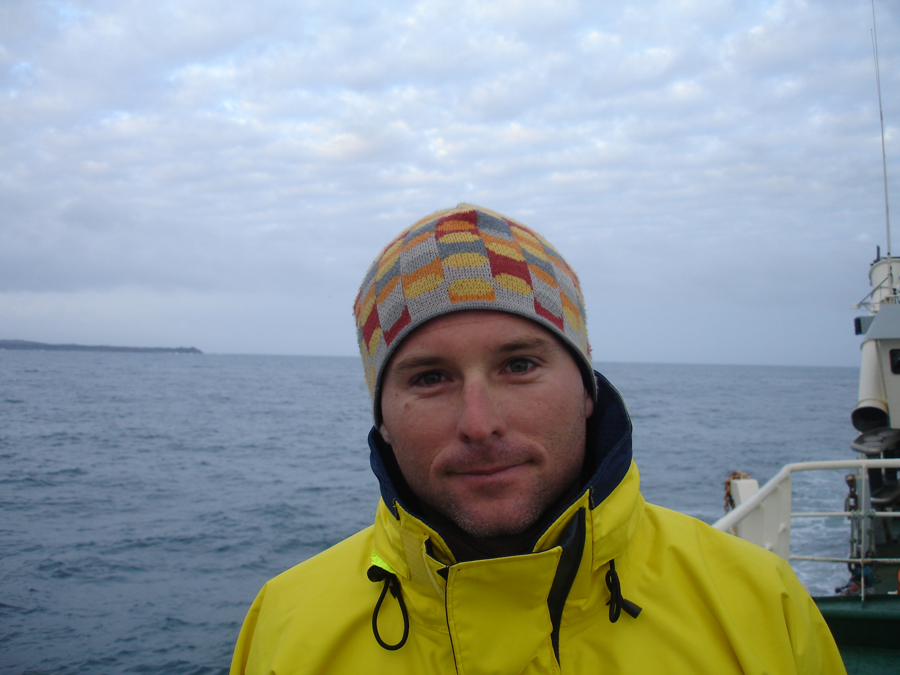 Aran Mooney on a research cruise in Icelandic waters.