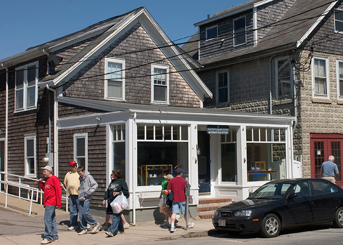 WHOI Visitor Center on Water Street in Woods Hole.