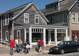WHOI Information Office on Water Street in Woods Hole.