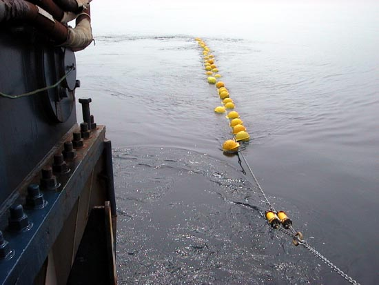 Crew strings out the Nootka mooring line.
