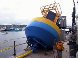 The Nootka buoy takes up a lot of space on deck