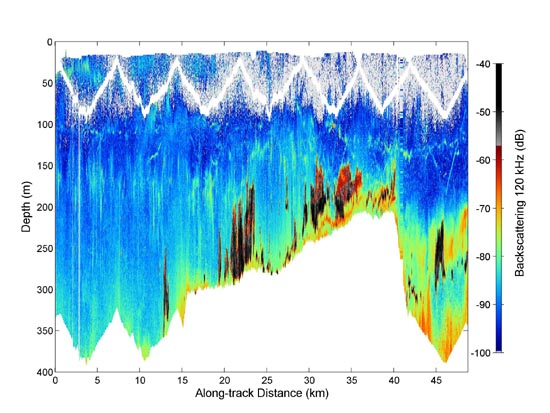 sample graph of BIOMAPER sonar data