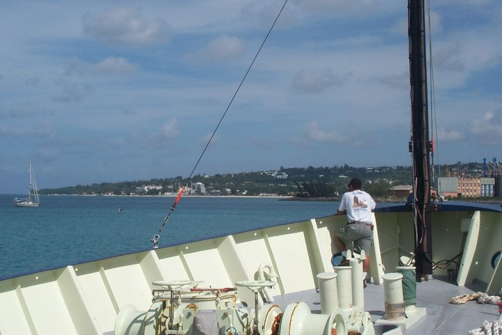 Oceanus Steaming into Barbados
