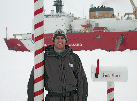 Jeff Standish, a recent graduate of the MIT/WHOI joint graduate program in oceanography
