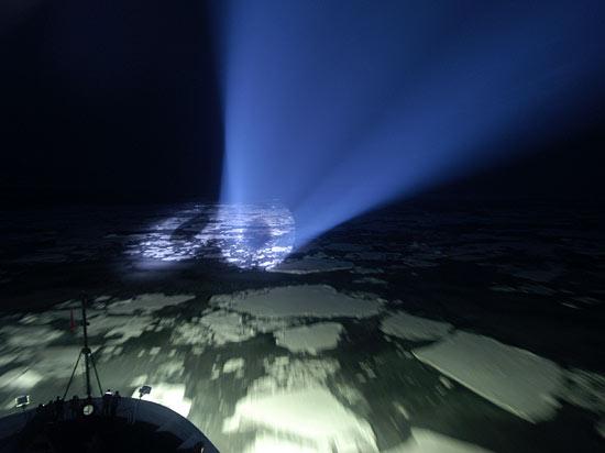 USCGC Healy navigational lighting.
