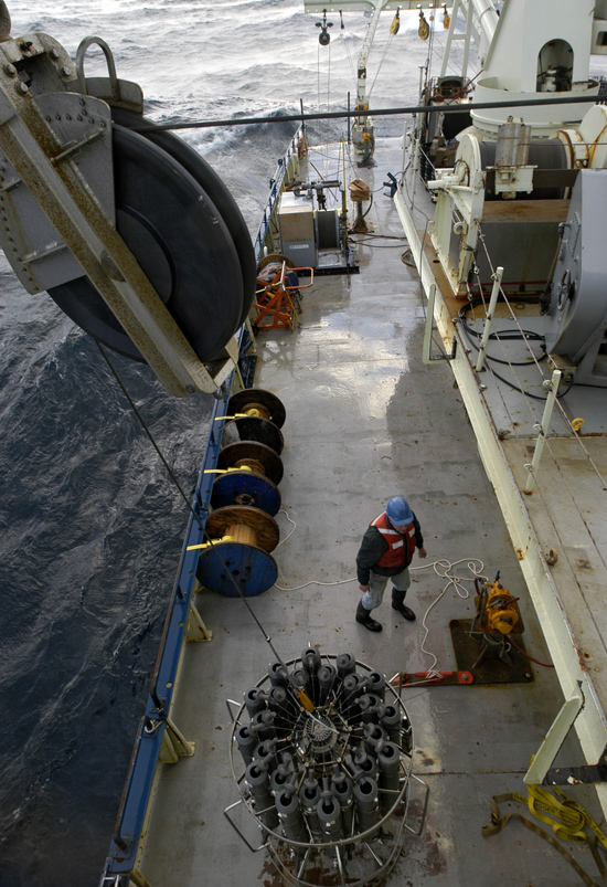 ctd on deck of ship