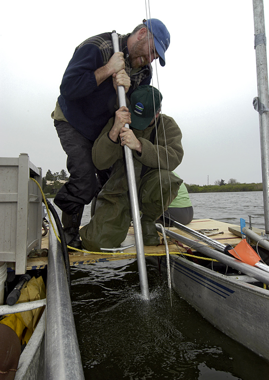 coring in Oyster Pond